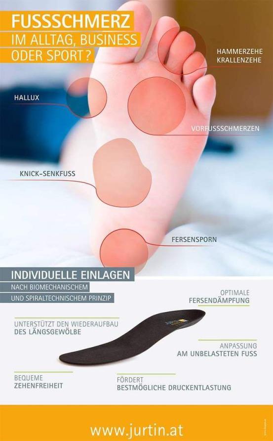 Jurtin medical einlagen, Schuheinlagen, Einlagen